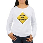 baby on board yellow Women's Long Sleeve T-Shirt