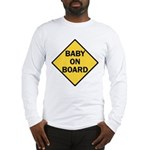 baby on board yellow Long Sleeve T-Shirt