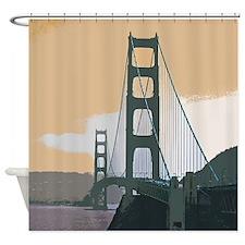 Unique Golden gate bridge Shower Curtain