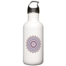 Purple Vintage mandala kaleidoscope Sports Water B