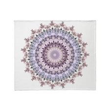Purple Vintage mandala kaleidoscope Throw Blanket