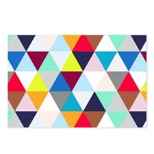 Multicolored Triangles Postcards (Package of 8)