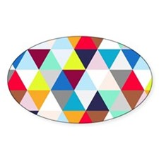 Multicolored Triangles Decal