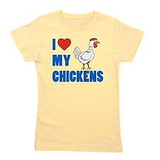 I Love Chickens Girl's Tee