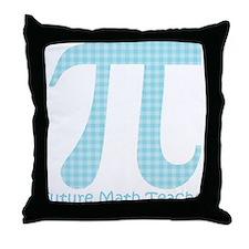 Future Math Teacher Aqua Plaid Throw Pillow