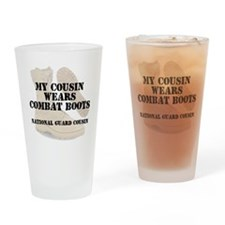 National Guard Cousin wears DCB Drinking Glass