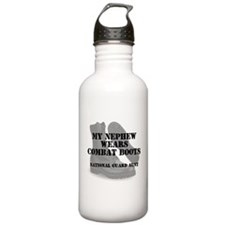 National Guard Aunt Nephew wears CB Water Bottle