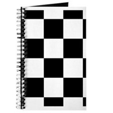 Black And White Checker Board Journal