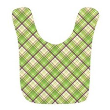 Green And Purple Crosshatch Bib