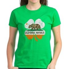 California Flag Shamrock Irish T-Shirt