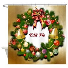 Xmas Wreath Shower Curtain