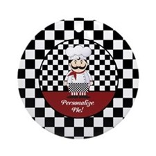 Personalized French Chef Ornament (Round)