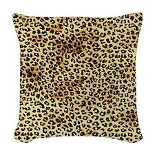 Cheetah Pattern Woven Throw Pillow