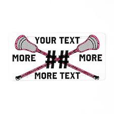 Lacrosse Pink Camo Sticks Crossed Personalize Alum