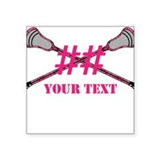 Lacrosse Pink Camo Sticks Crossed Personalize Stic