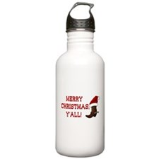 Santa Boot: Merry Christmas, Y'all! Water Bottle