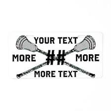 Lacrosse Camo Sticks Crossed Personalize Aluminum