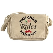 Circular This Chick Rides Her Own Messenger Bag