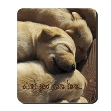 2-WishUWereHere_Labrador_Pups Mousepad