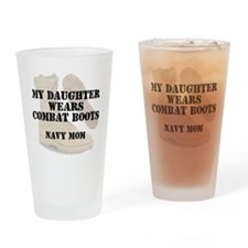 Navy mom daughter wears DCB Drinking Glass