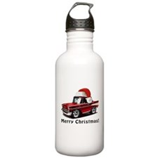 BabyAmericanMuscleCar_57BelR_Xmas_Red Water Bottle