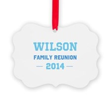 Make Your Own Blue Family Reunion Ornament