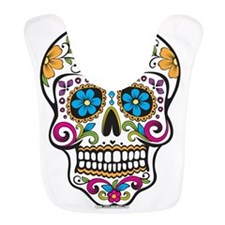 Day of The Dead Sugar Skull, Halloween Bib