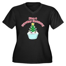 Cupcakey Christmas Plus Size T-Shirt