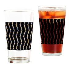 Sideways Zig Zag Drinking Glass