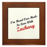 In Love with Zackary Framed Tile