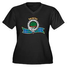 Irwin Clan Women's Plus Size V-Neck Dark T-Shirt