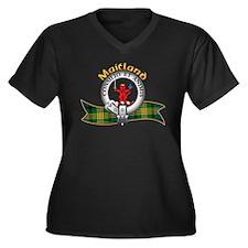 Maitland Clan Women's Plus Size V-Neck Dark T-Shir