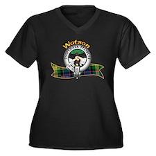 Watson Clan Women's Plus Size V-Neck Dark T-Shirt