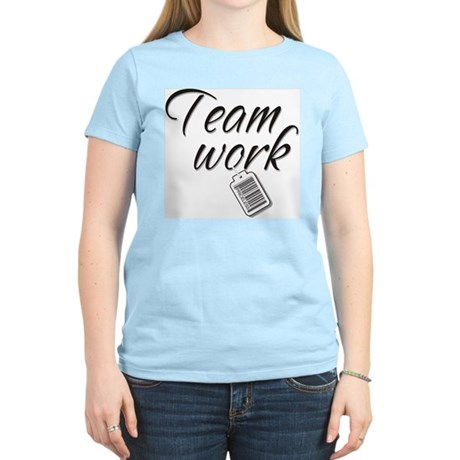 Teamwork -- Priceless Women's Pink T-Shirt