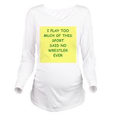 WRESTLER Long Sleeve Maternity T-Shirt