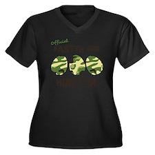 hunter1 Women's Plus Size Dark V-Neck T-Shirt