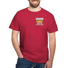 Red Volunteer Firefighter T-Shirt