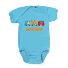 Personalized Alphabet Train Baby Bodysuit