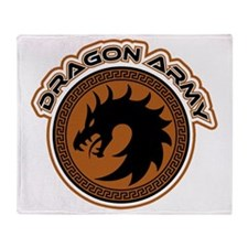 Dragon Army Logo Throw Blanket