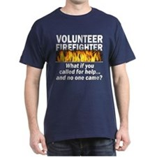 Blue Volunteer Firefighter T-Shirt