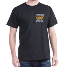 Black Volunteer Firefighter T-Shirt
