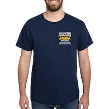 Blue Volunteer Firefighter T-Shirt