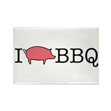 I Cook BBQ Rectangle Magnet