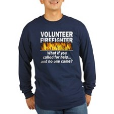 Blue Volunteer Firefighter T