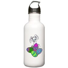 2-EASTER BUNNY WITH EG Sports Water Bottle