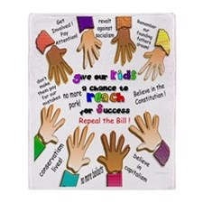 give our kids poster Throw Blanket