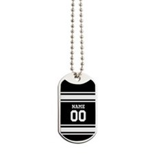Sports Jersey Black White Dog Tags