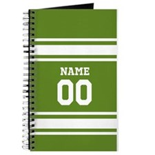 Sports Jersey Green White Journal