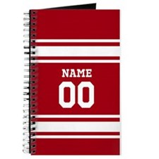 Sports Jersey Red White Journal