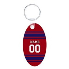 Sports Jersey Red BLue Keychains